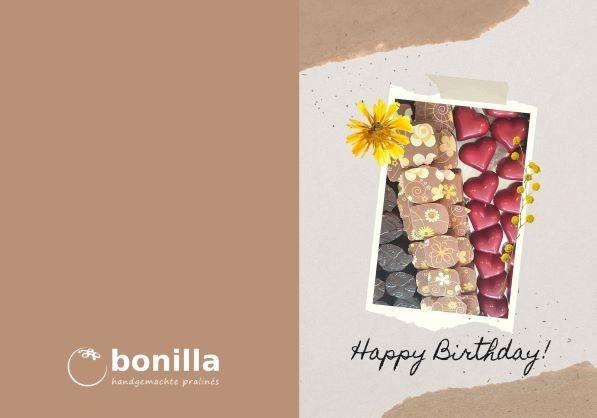 Happy birthday Karte Bonilla
