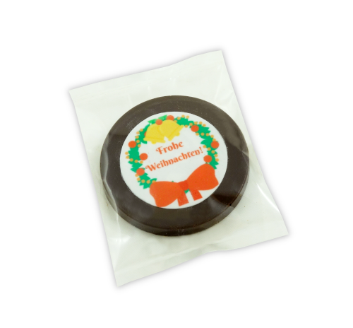 Weihnachts-Medaillons dunkle Schokolade