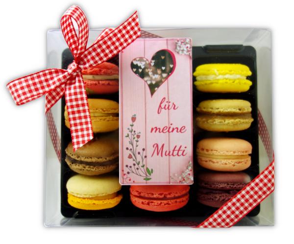 12er Macarons-Schachtel Muttertag