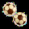 Fussball-Pralinen mit Nougat