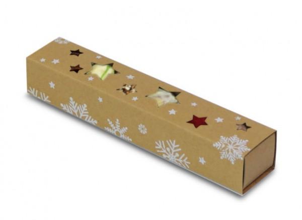 Weihnachtliche Pralinenstange mit 6 Pralinen