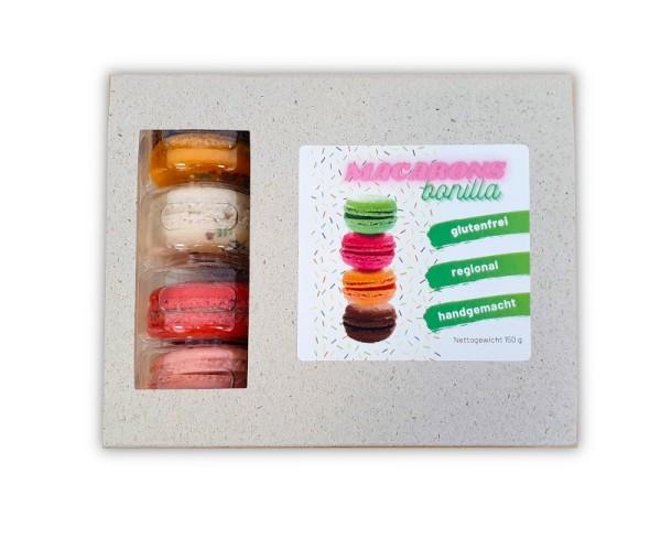 Macarons Schachtel mit 12 glutenfreien Macarons
