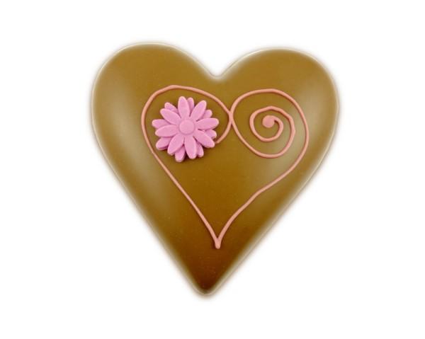 Herz aus Vollmilchschokolade 3D