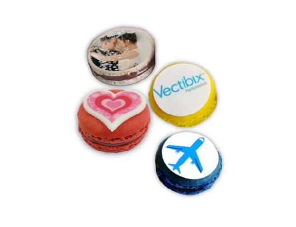 Personalisierte Macarons mit Logo oder Bild
