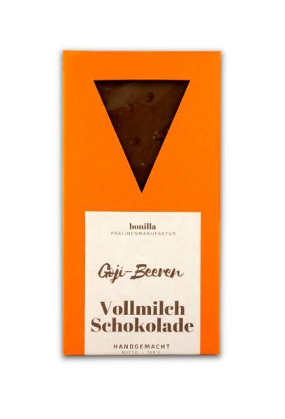 Vollmilchschokolade Goji-Beeren