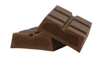 Salzkaramell Schokolade im Schnitt