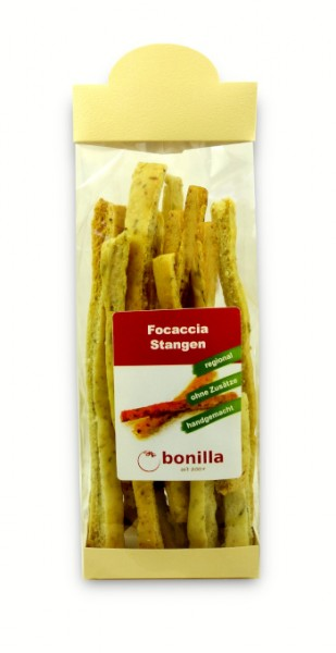 Focaccia-Stangen mit Oliven & Rosmarin vegan