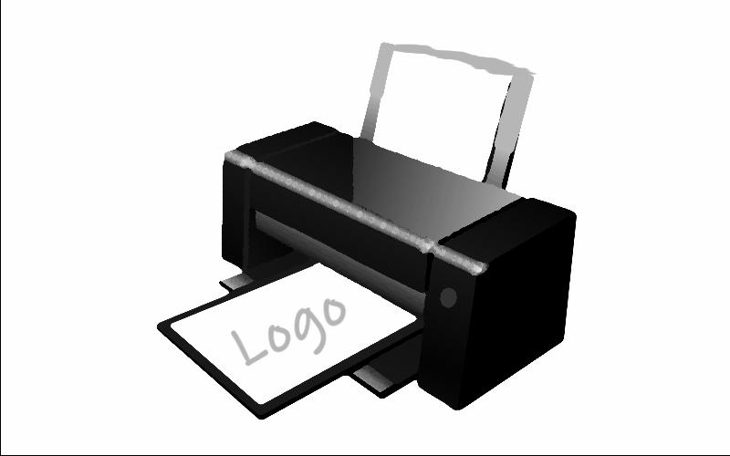 Drucker-mit-Logo