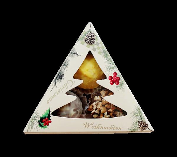 Weihnachtlichte Dreieck-Schachtel
