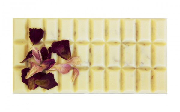 Rosenblüten Schokolade